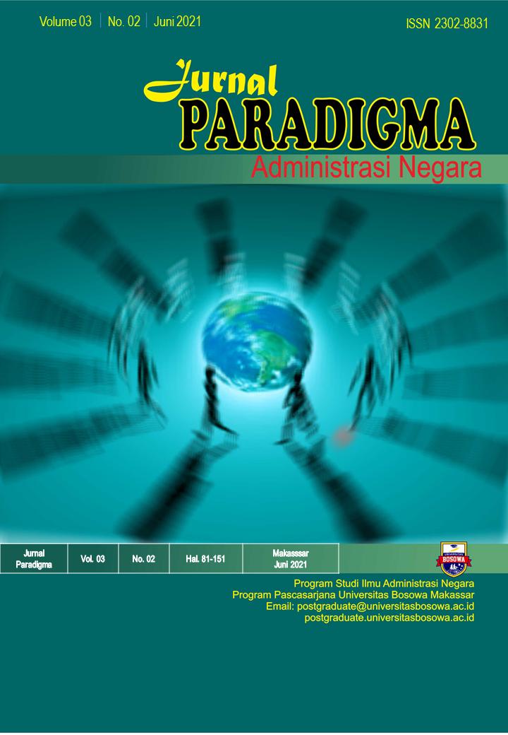 View Vol. 3 No. 2 (2021): J. Paradigma Administrasi Negara, Juni 2021