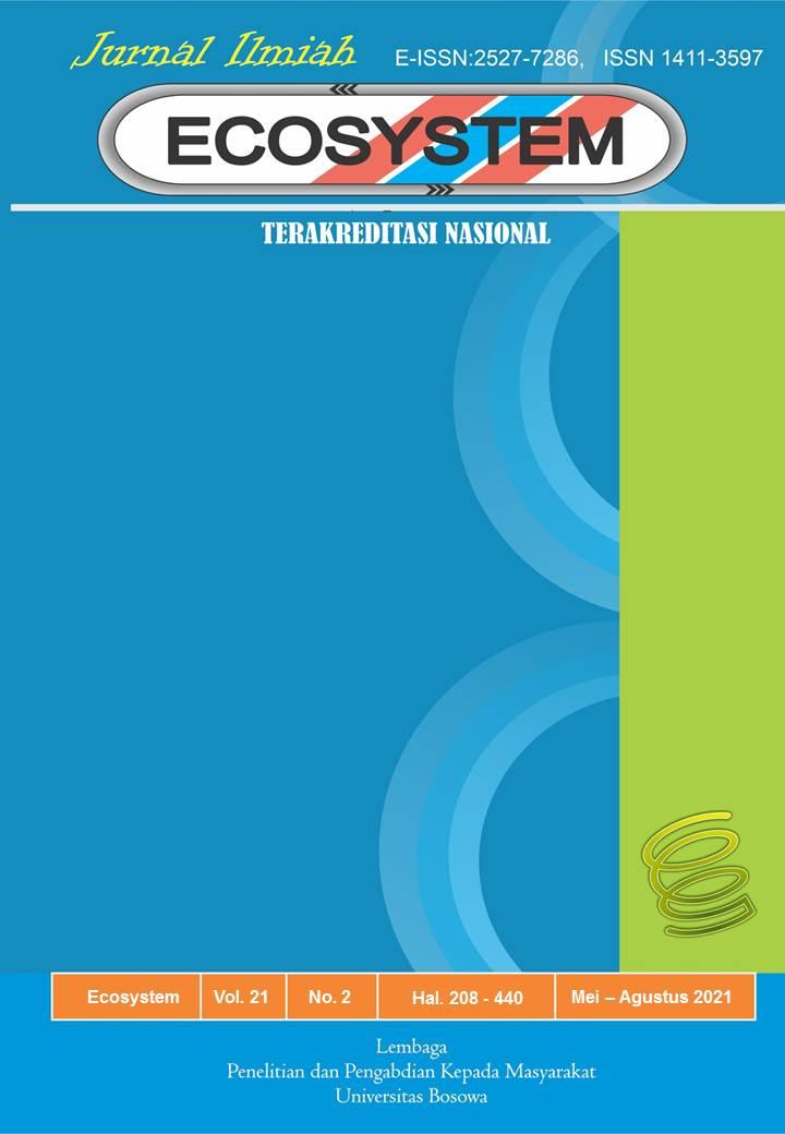 View Vol. 21 No. 2 (2021): ECOSYSTEM Vol. 21 No 2, Mei - Agustus Tahun 2021