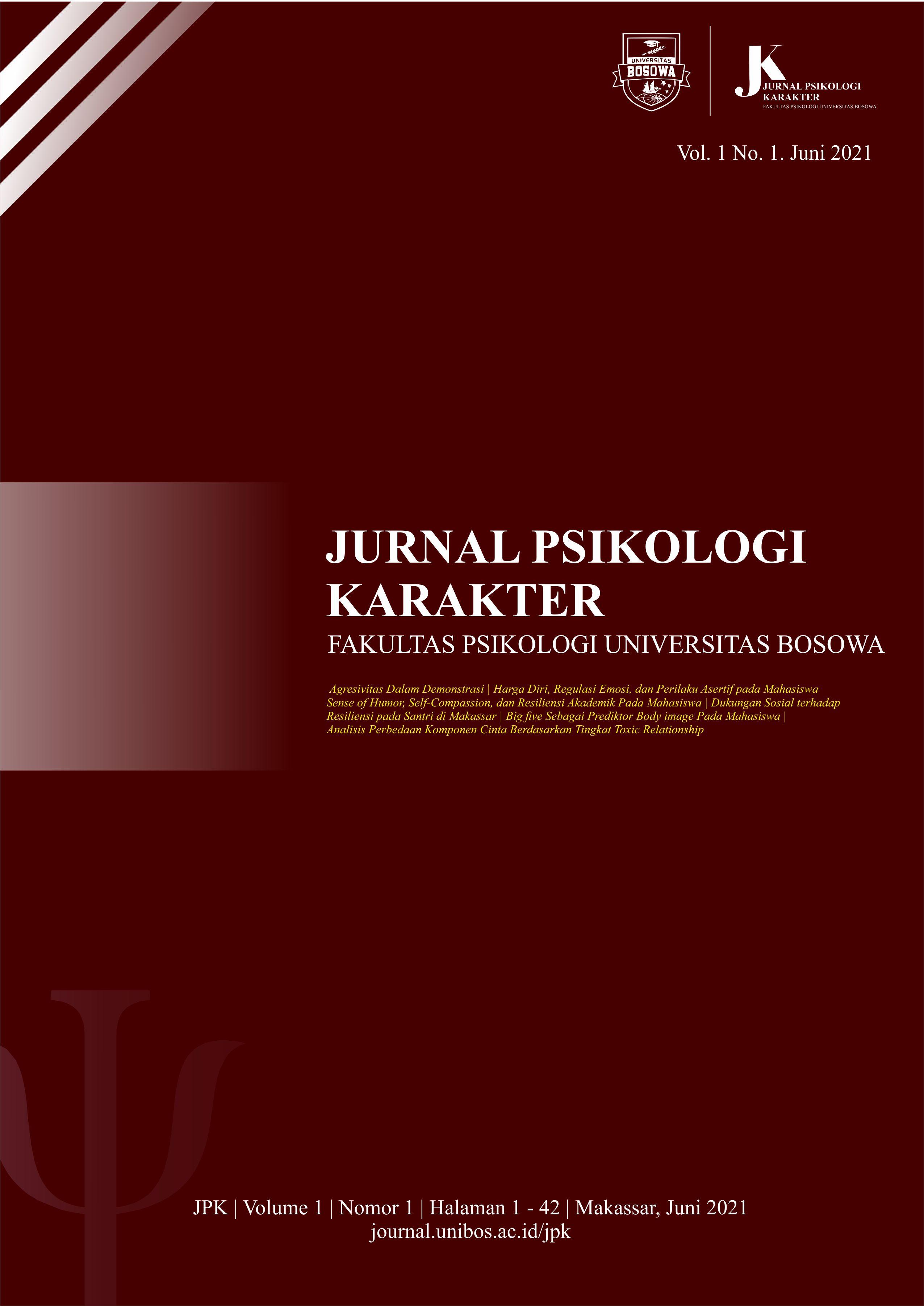View Vol. 1 No. 1 (2021):  Jurnal Psikologi Karakter, Juni 2021