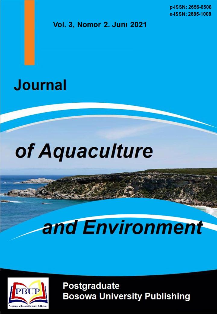 View Vol. 3 No. 2 (2021): Journal of Aquaculture and Enviroment Juni 2021